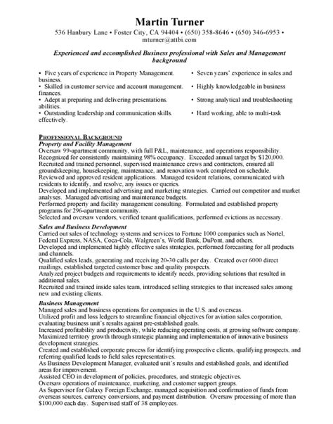 Exle Of Assistant Property Manager Resume by Assistant Property Manager Resume Template