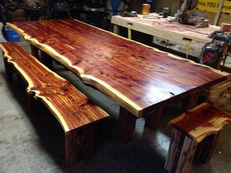 10' table! Cedar Table, Live Edge Table, Cedar Dining Set