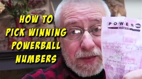 pick winning powerball numbers youtube