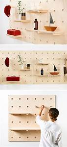 9, Ideas, For, Using, Pegboard, And, Dowels, To, Create, Open, Shelves