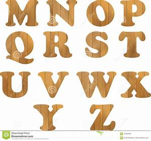 alphabet made of wooden letters on white background stock With letters made of wood