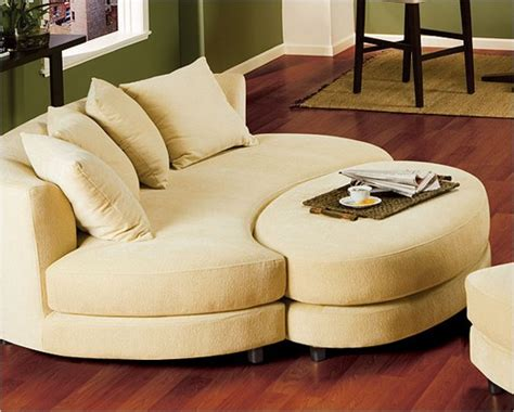 Oval Loveseat by Roundabout Oval Sofa And Ottoman Set Made For Each Other
