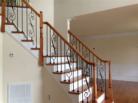 modern stair runner ideas wrought iron stair railings for creating awesome looking