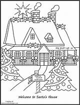Pole Coloring North Pages Christmas Printable Drawing Workshop Colouring Santas Houses Az Xmas Getcolorings Getdrawings Azcoloring Popular sketch template