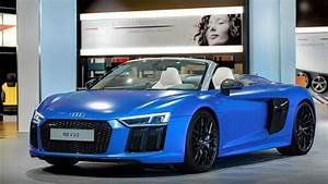 2017 Audi R8 Spyder in Arablau Matt Shows Up at Audi Forum ...