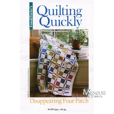 missouri quilting company deal of the day disappearing 4 patch pattern fons porter missouri