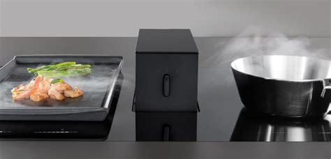 hotte de cuisine escamotable hotte intgre la plaque with hotte escamotable plan de travail