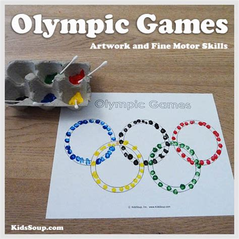 olympic activities and printables kidssoup 714 | Olympic Games Rings Craft KS