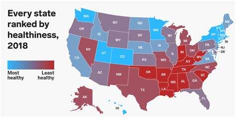 the healthiest and unhealthiest states in america business insider