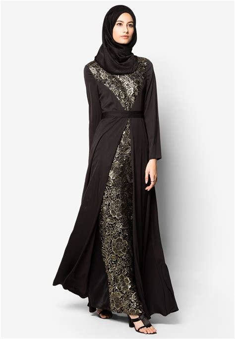 zalia high collar regal lace dress  beli  zalora