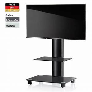 Meuble Avec Support Tv : bilano noir pied support tv cran plat avec tablette et ~ Dailycaller-alerts.com Idées de Décoration