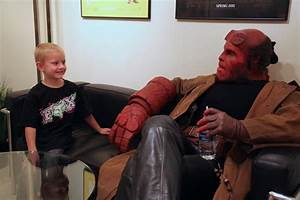 Ron Perlman Visits Kids as HELLBOY for Make-a-Wish | Collider