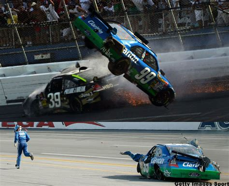 Carl Edwards Real-life Talladega Nights Nascar Crash