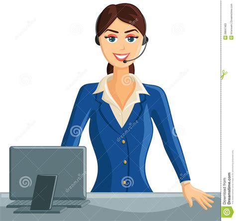 receptionniste de bureau fille de sourire de réceptionniste photos stock image