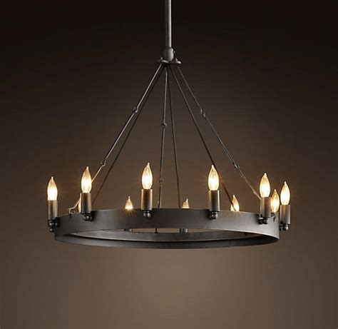 Large Circular Chandelier by Cheap Contemporary Modern American Vintage Antique Style