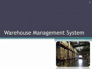 Warehouse Management System |authorSTREAM