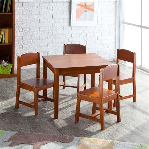 kidkraft farmhouse table and chair set pecan 5 best table and chair set for great gift for you