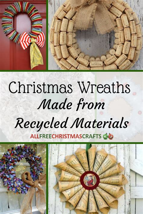 christmas wreaths   recycled materials