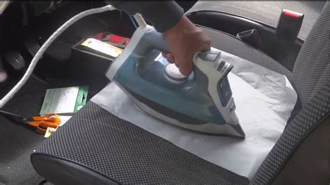 trou cigarette siege auto réparation siège tissu déchirure auto tissu