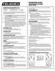 Download Free Pdf For Teledex Diamond Plus 10 Telephone Manual