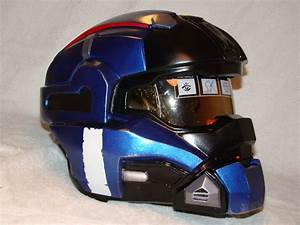Halo Reach Carter helmet side view Finished by ...