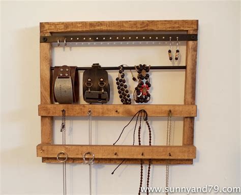 Pottery Barn Inspired Rustic Jewelry Hanger