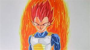 Drawing Vegeta Super Saiyan God - Dragon Ball Super Manga ...