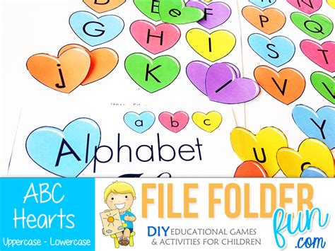abc preschool games alphabet file folder file folder 437