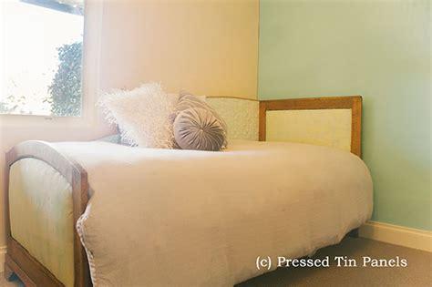 Bedroom Paint Ideas - original bed backboard pressed tin panels