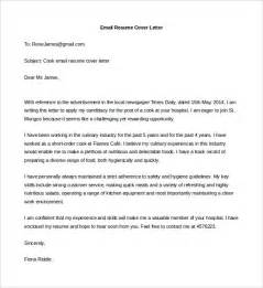 Resume Email Cover Letter Email Resume Cover Letter Template