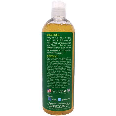 Real Aloe, Aloe Vera Shampoo with Argan Oil & Oat Beta ...