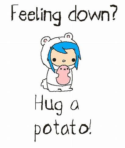 Potato Hug Feeling Down Feel Hugging Clipart