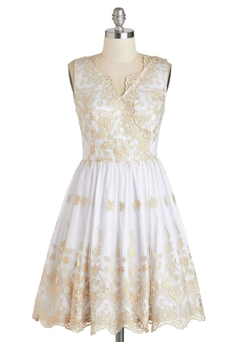 Champagne Toast To You Dress Mod Retro Vintage Dresses