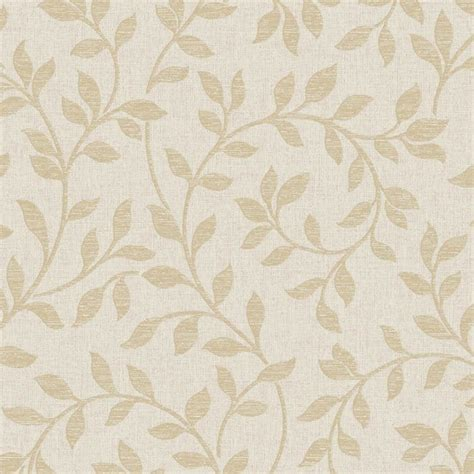 fine decor torino leaf wallpaper beige gold fd