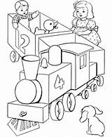 Coloring Train Choo Pages Popular sketch template