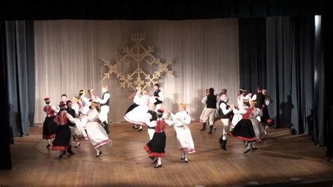 Latvian Folk Dance Saules Meitas - YouTube