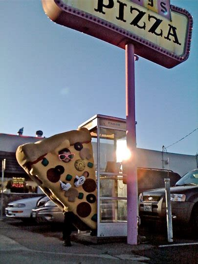 Spotted: Giant Pizza Slice In Pinky's Phone Booth ...
