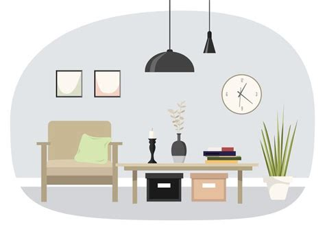 vector interior design illustration