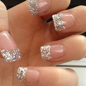 Silver Glitter French Tip Nails | Best Nail Designs 2018