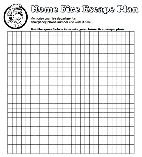 printable fire escape plan 6 home evacuation plan templates doc pdf free premium templates