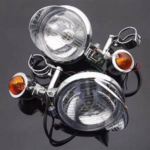 Motorcycle Turn Signal Driving Spot Light Bar Fog Lights
