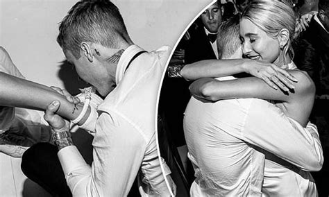 Justin Bieber Takes Off New Wife Hailey Garter With His