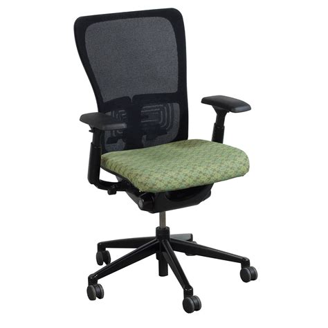 zody task chair haworth zody used task chair black and green national