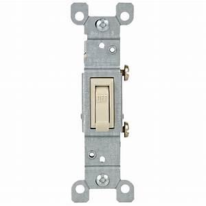 Leviton 15 Amp Single-pole Toggle Switch  Light Almond-r56-01451-02t