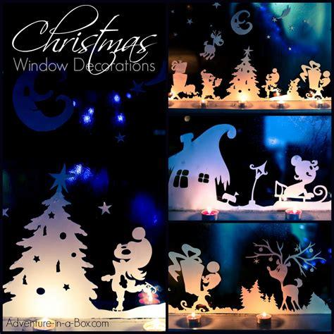 christmas window decorations adventure   box
