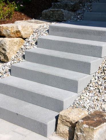 beton blockstufe anthrazit blockstufen beton sieber