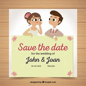 fun wedding invitation with husband and wife vector free With wedding invitations cards for husband