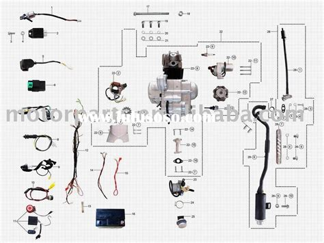 Baja 50 Wiring Diagram Schematic by Atv Engine Diagram With Names Wiring Diagram