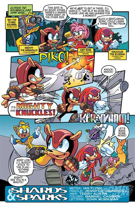 exclusive preview sonic  hedgehog  comic vine