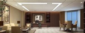 hong kong company general manager office 3d interior With interior design office manager